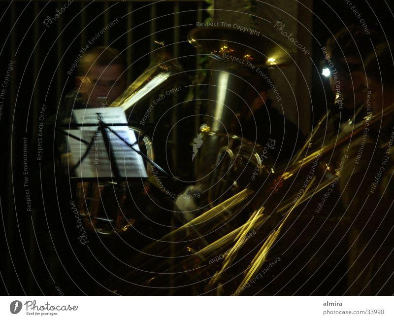 Saint Martin Trombone Brass band Night Sing November Glittering Cold Group Band Music lantern parade St-Martin Shadow Musical notes Light (Natural Phenomenon)