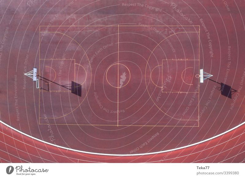 a plain basketball court from above basketball field baskettball court from above lines sport lines basketball lines sport place ash red small basketball court
