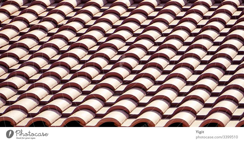 Repeating Elements: Red Roof Tiles modern protection rooftop home exterior house clay detail structure construction design material architecture color