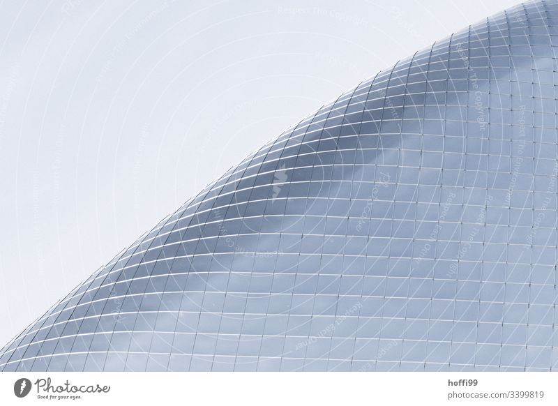 curved glass façade Berlin Architecture Window Curved Facade Financial Industry Financial institution Urban development Modern architecture Abstract Business