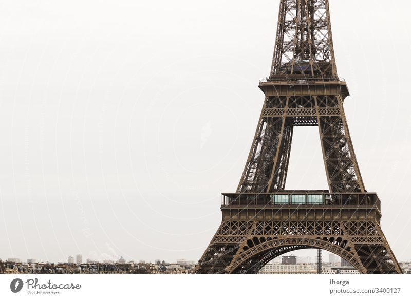 View of the Eiffel Tower in Paris, France architectural architecture attraction beautiful beauty building city cityscape construction destination destinations