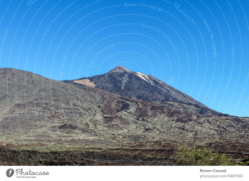 Landscape around the mountain Teide on canary island Tenerife tenerife teide national park stony landscape canary islands spain blue sky vacation mountain range