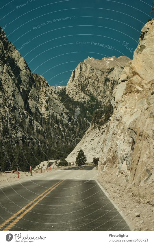 Mountain road - Sierra Nevada - Lone Pine Day Deserted Exterior shot Colour photo mountain USA lone pine California mountain road Mount Whitney Valley Summer