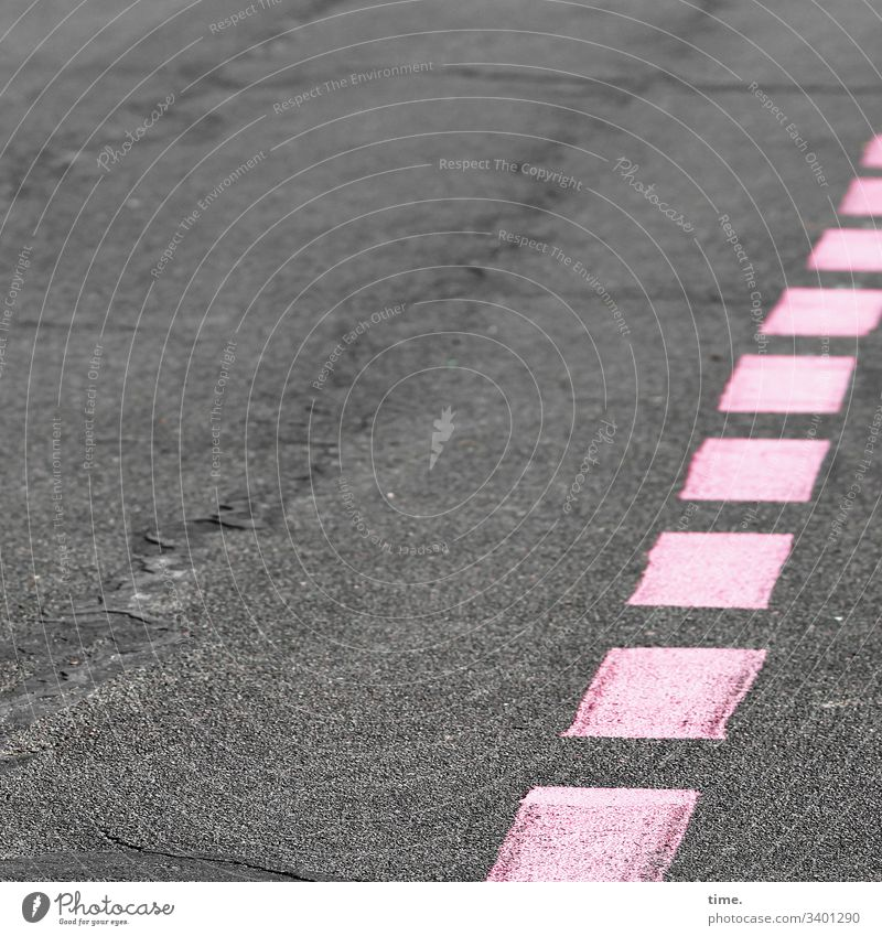 pink runaway Asphalt mark Pink Gray taxiway Airport Stone Runway tempelhofer field Berlin structure squares Uneven Crack & Rip & Tear dent Line