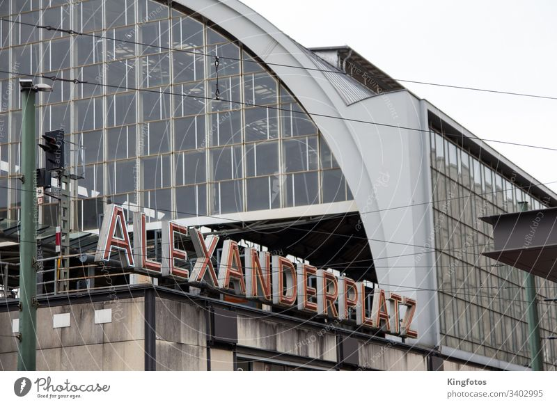Berlin Alexanderplatz alex Train station Germany Characters lettering writing Places Berlin Centre travel Capital city Tourism Town City trip Landscape format
