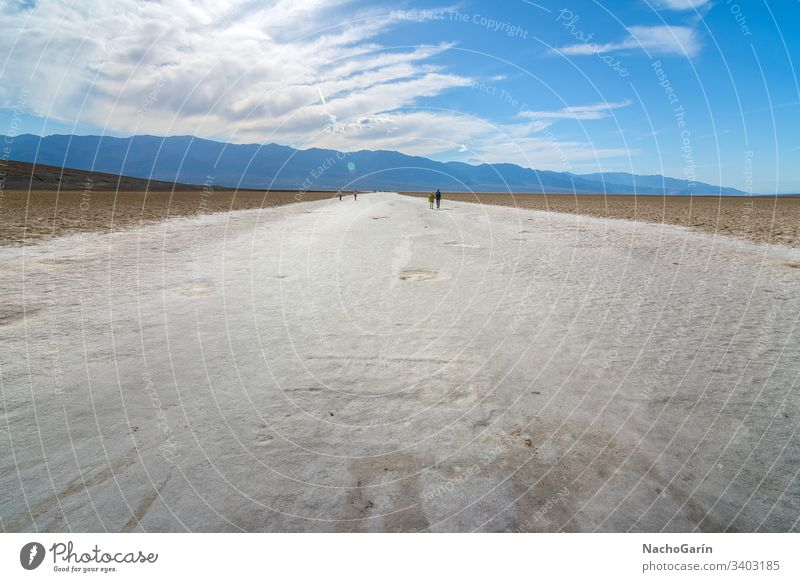Amazing Badwater salt lake at Death Valley National Park, California, Usa valley death park badwater national desert basin usa california landscape dry nature