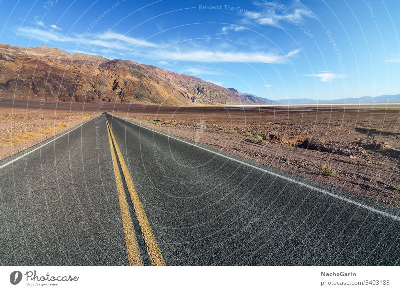 American road crossing the Death Valley National Park in California, Usa valley death desert park national highway travel california landscape usa journey