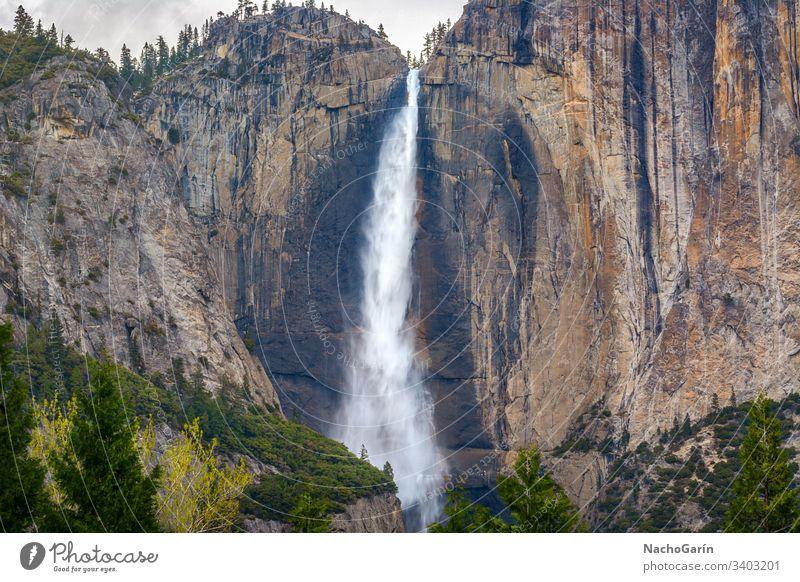 Upper Yosemite falls in Yosemite Valley, Yosemite National Park, California, USA yosemite park waterfall national california usa rock nature natural landscape