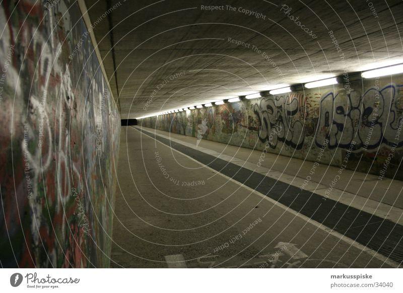 infinite underpass Pedestrian Concrete Dark Light Eerie Black Holes Grating Art Tagger Bridge Underpass Graffiti