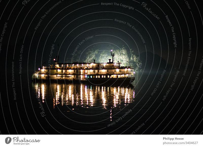 Halong Bay Vietnam boat cruise night