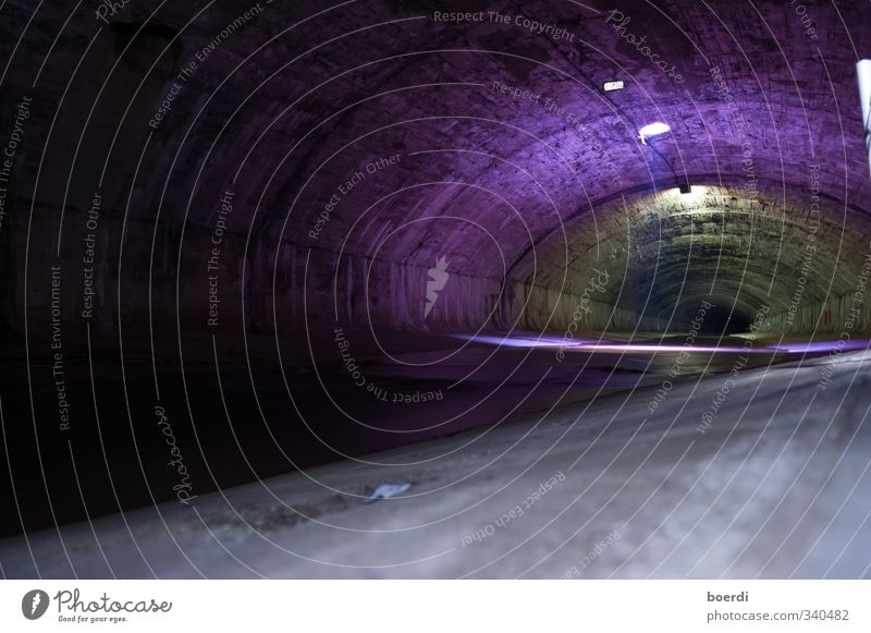 City Dark Moody Historic Pipe Tunnel Channel Drainage system