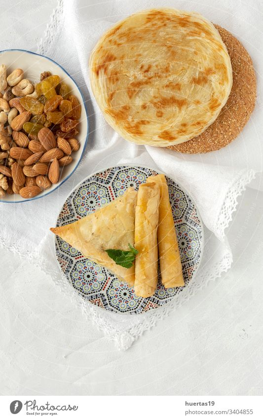 Traditional typical homemade Ramadan food ramadan traditional arabic halal meal healthy background dinner islamic religious eating religion culture Islam muslim