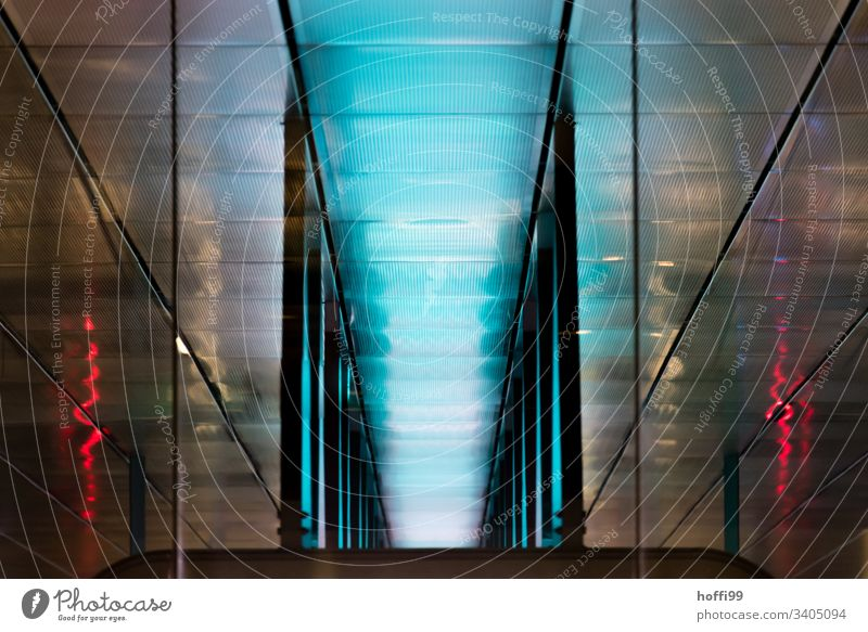 abstract pattern of underground lights architecture blue red design coolness cool architecture lifestyle art artful Pattern Architecture Abstract Design Style