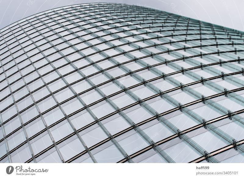curved glass facade Berlin architecture windows Financial Industry Financial institution Urban development Modern architecture abstract Business Architecture