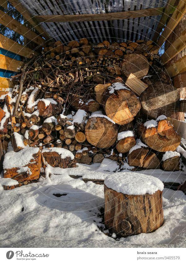 Snowed stack of logs. wood winter snow lumber tree chimney environmental lumberjack stove wood cold fireplace fuelwood season power ovenwood fuel wood organic
