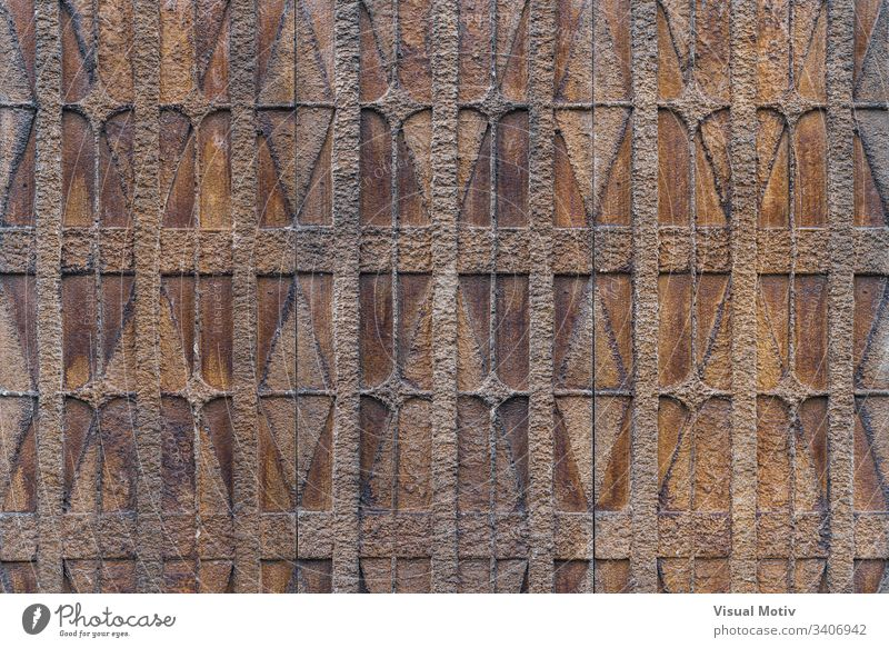 Textured background of a decorative geometric motifs on a wall color texture architecture architectural architectonic man-made no people nobody structure urban