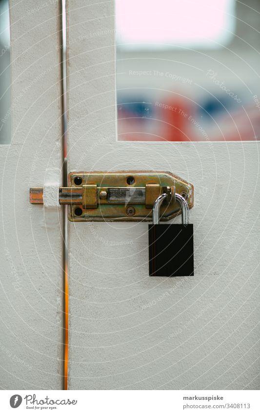 Door lock locked Padlock Closed Goal Wooden door Safety Break-in Theft