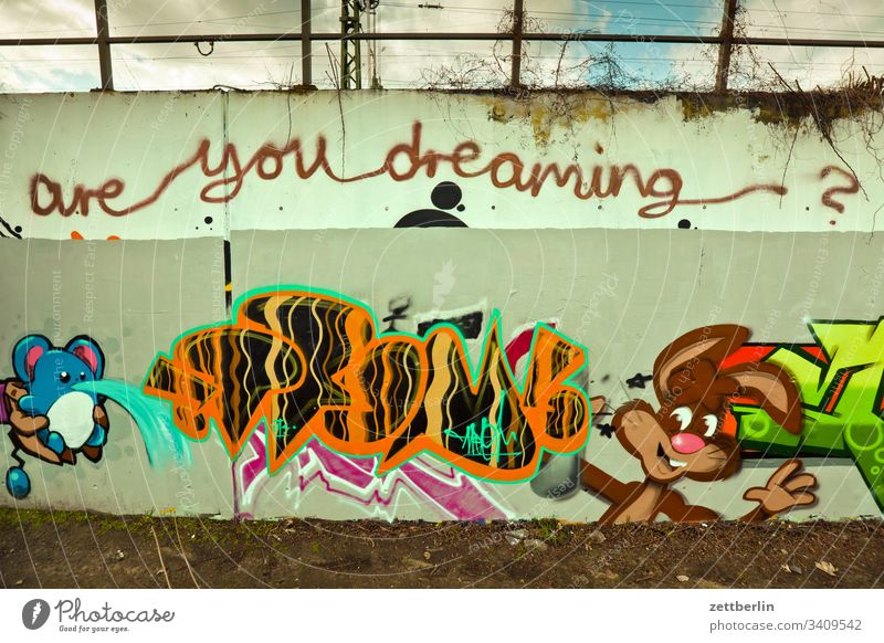 Are you dreaming? Image triangular track illustration Line Park track triangle park sprayer tagg Wall (building) mural Wilderness Drawing are you dreaming?