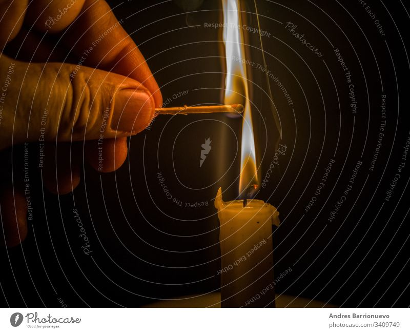 Matches burning to light a candle match strong danger beautiful lit red hot concept heat blue flame head igniting matchstick bright isolated smoke yellow ignite