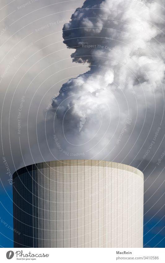 Nuclear reactor nuclear reactor Nuclear power plant Blast furnace Duisburg smoke Smoke Haze haze dome Gray Environmental pollution Sky in the morning