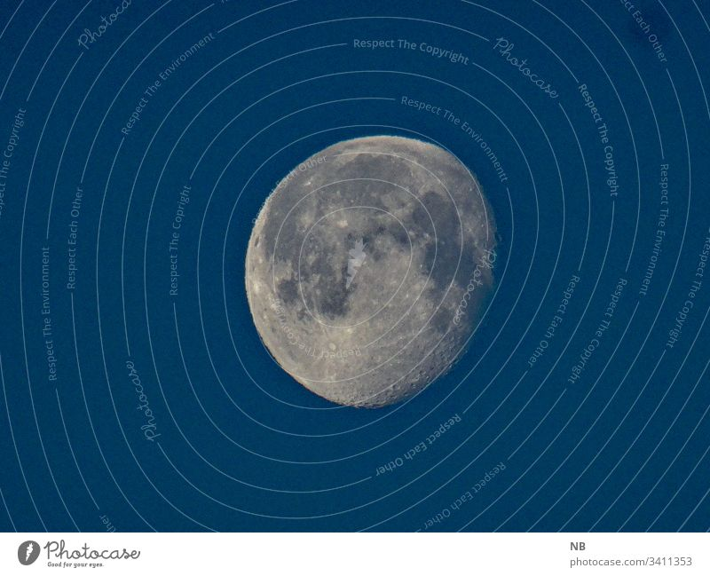 moon in the daytime sky Moon in the day sky Blue astronomically galaxy