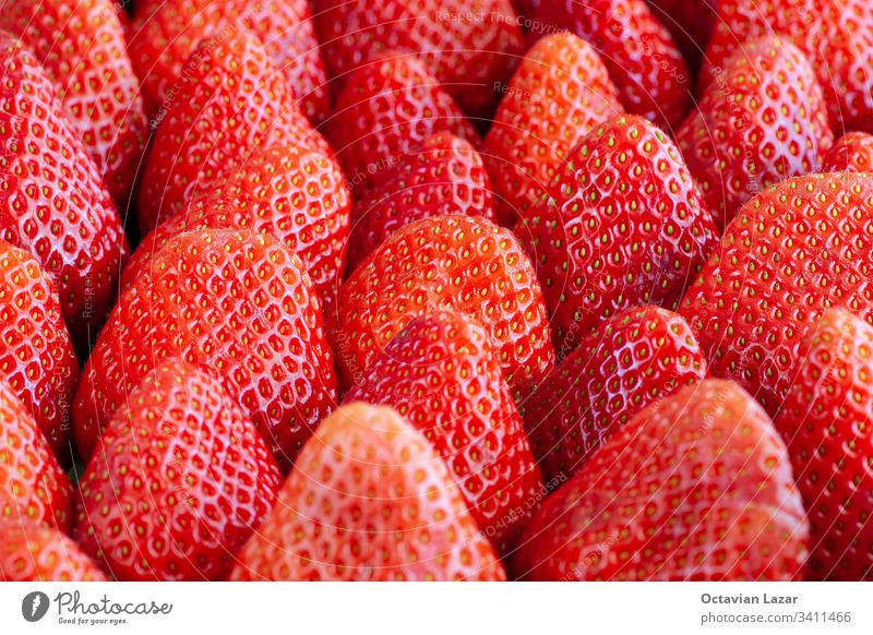 Groups of Strawberries shot close up macro depth of field strawberry food red fruit closeup sweet ripe fresh organic healthy close-up freshness background