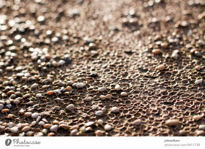 Pebbles in sunlight Lanes & trails Sunlight Pattern Kulen stones Copy Space top Exterior shot Gravel path relaxation void imperfect