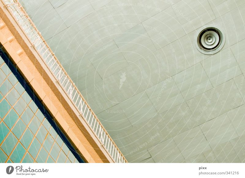 Blue Old City Architecture Interior design Swimming & Bathing Metal Gloomy Roof Observe Simple Round Swimming pool Handrail Stop Tile
