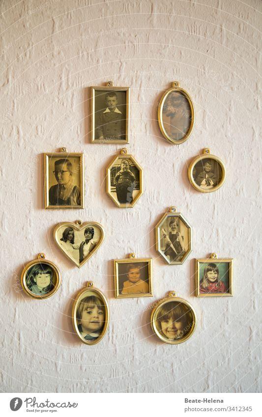 family stories Photos Family Memory Infancy pedigree Family & Relations Photography Nostalgia Analog Former family album Transience Sentimental preserve Past