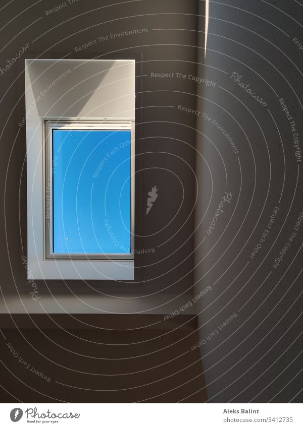 Blue sky in the skylight Sky Skylight Window Colour photo Architecture Building Light Shadow House (Residential Structure)