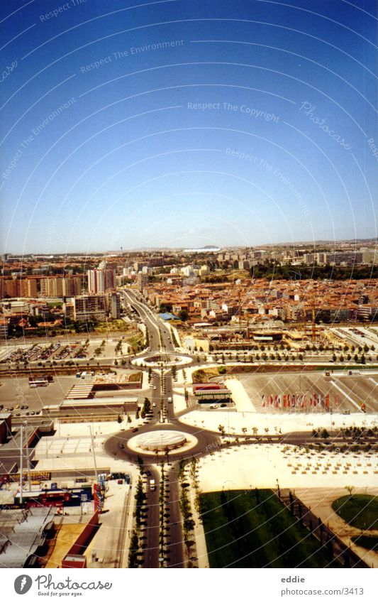 Lisboa from top Lisbon Aerial photograph Town Architecture