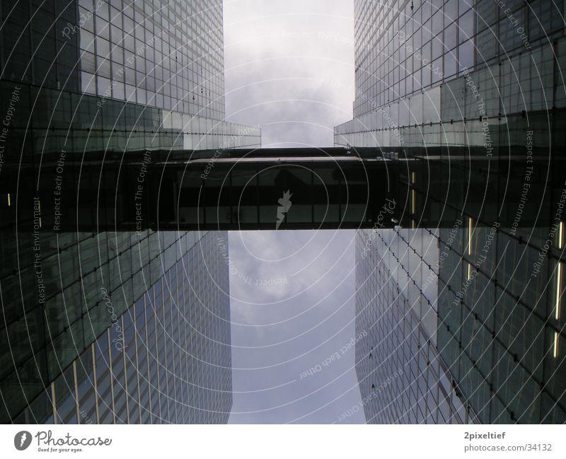 Sky Blue Architecture Gray Glass Concrete Tall High-rise Modern Bridge Might Munich Steel Upward Geometry