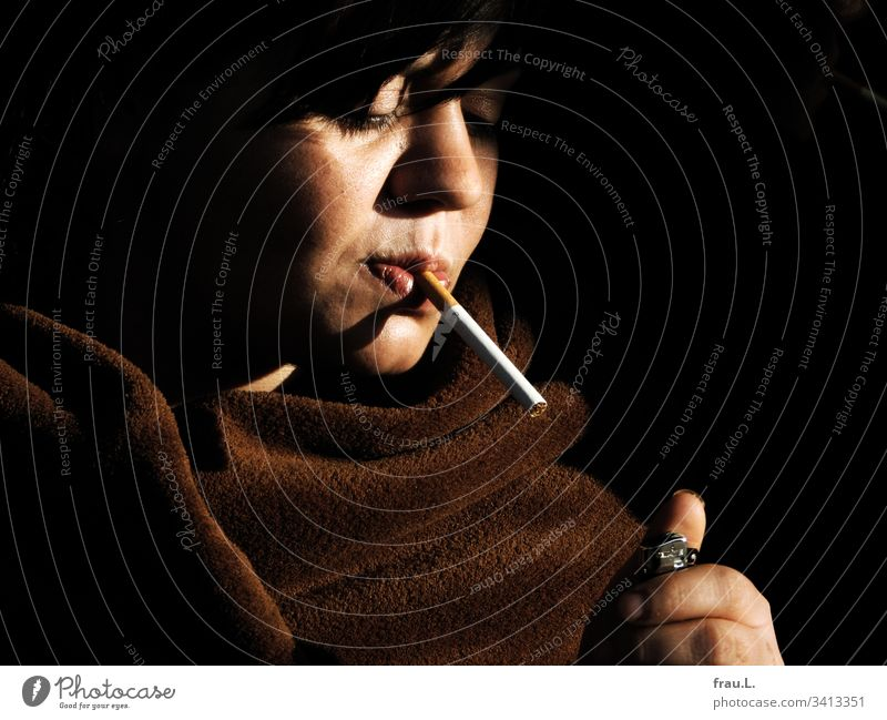 """""""You like smoking, beautiful woman?"""" giggled the lighter and refused to light the cigarette she had stuck between her lips. Woman Beautiful Young woman Feminine"""