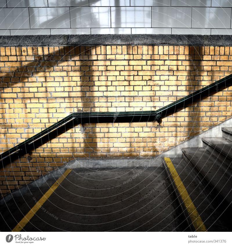 uprightleftrunterisdochegal... Tunnel Manmade structures Staircase (Hallway) Stairs Banister Tile Brick Concrete floor Underpass Stone Wood Line Illuminate Old