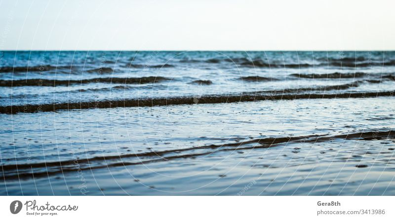 small waves on the sea surfacev blue blue sea blue water horizon nature ocean sea waves