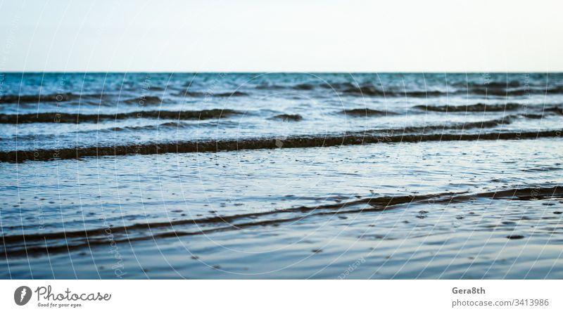 small waves on the sea surfacev blue blue sea blue water horizon nature ocean sea waves