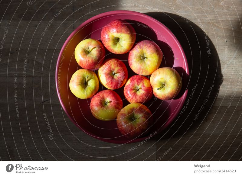 apples Apple fruit Organic produce Autumn Harvest Vegetarian diet Fruit Nutrition Healthy Colour photo Food Fresh Healthy Eating Delicious shell attentiveness