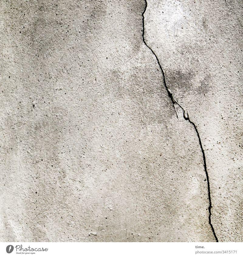 masonry Whimsical Facade perspective Inspiration Puzzle Tin Wall (building) Attachment Crack & Rip & Tear late Broken Trashy perpendicular Gray bailer