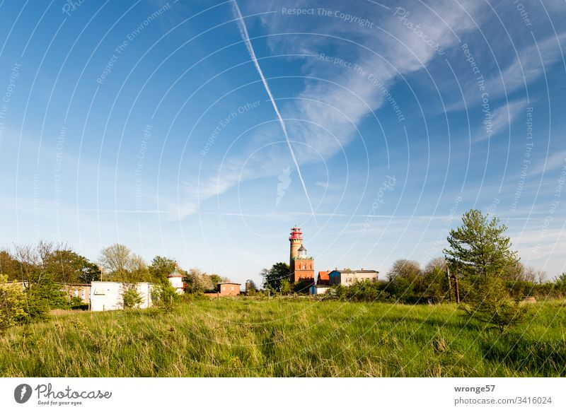 Lighthouses at Cape Arkona (Island of Rügen) Coast Landscape Sky Nature Exterior shot Colour photo Deserted Day Beautiful weather Summer Copy Space top Tower