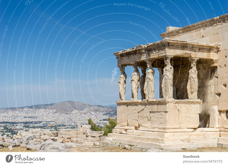 Caryatides, Erechtheion temple Acropolis in Athens, Greece greece acropolis athens ancient building greek parthenon famous architecture landmark classical