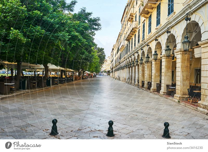 historic center of Corfu corfu liston greece town street travel architecture building old island square summer spianada vacation greek light traditional tourism