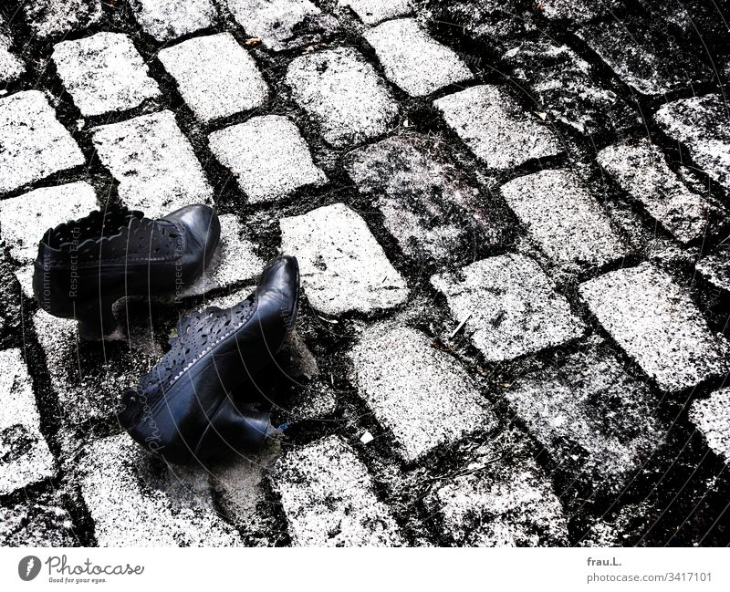 She ran for her life and on the cobblestone she had taken off her shoes - now they were lying there - but the C-virus was still panting after her. Footwear