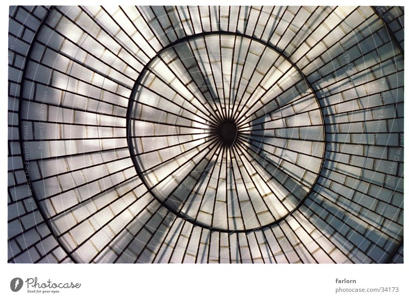 light dome Light Window Domed roof Wide angle Architecture Eyes Interior shot