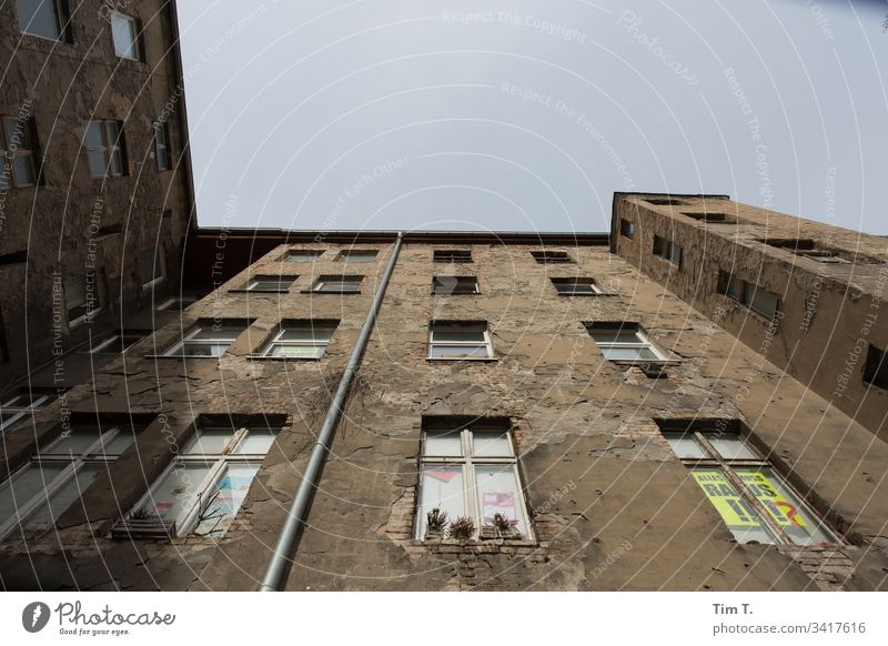 Backyard Berlin 2020 Prenzlauer Berg House (Residential Structure) Deserted Exterior shot Town Capital city Old building Facade Wall (building) Colour photo