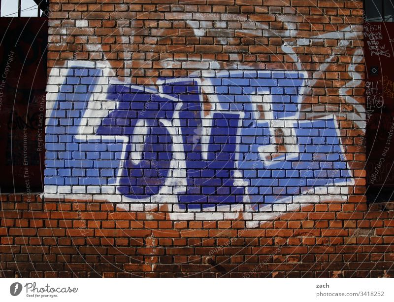 Graffiti on a house wall, Love - Love - writing on a wall Berlin Germany Deserted Capital city Building Ruin Broken Exterior shot Wall (building) Romance