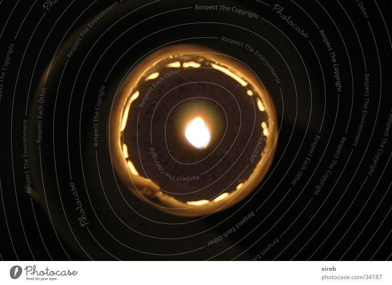 Candle from above Wax Dark Vertical Round Living or residing Flame by Above Circle