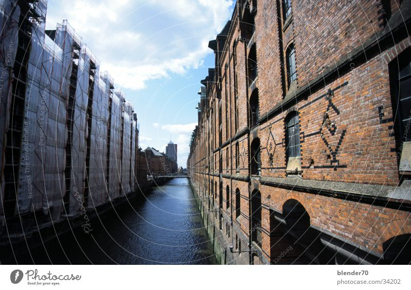 Water Architecture Hamburg River Brick Port of Hamburg Jetty Sewer Old warehouse district