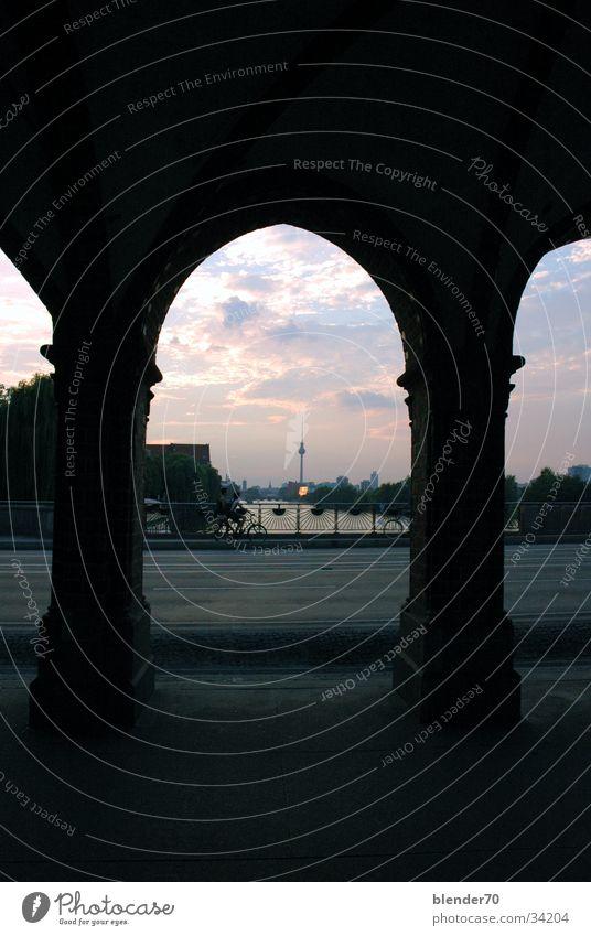 Berlin Historic Alexanderplatz Spree Oberbaumbrücke