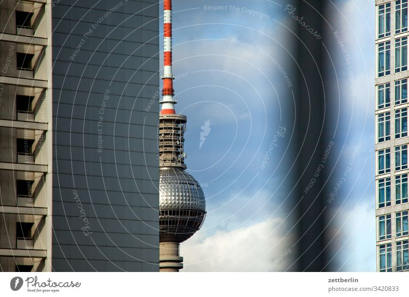 TV tower again on the outside Deserted Copy Space telespargel Television tower radio and ukw tower alex Alexanderplatz Sphere House (Residential Structure)