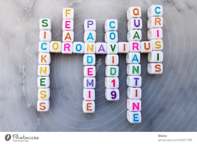 Coronavirus cubes crossword. Crossword on the topic Coronavirus china corona coronavirus disease epidemic flu puzzle text biohazard danger pandemic medical